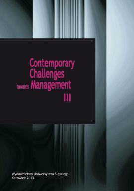 Contemporary Challenges towards Management III - 18 The effectiveness of network connections in operations of a cluster