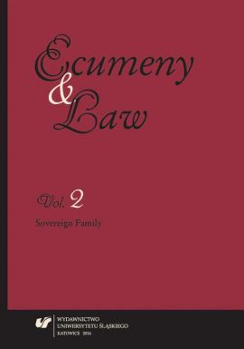 """""""Ecumeny and Law"""" 2014, Vol. 2: Sovereign Family - 16 The Christian Family in the Light of the Nomocanonical Legislation Printed in Romanian Language in the 17th Century"""
