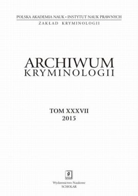 Archiwum Kryminologii, tom XXXVII 2015 - Michaela Stefunkova: The Mitigation Of Criminal Repression Against Drug Users by the New Czech Penal Code - Irena Rzeplińska, Witold Klaus