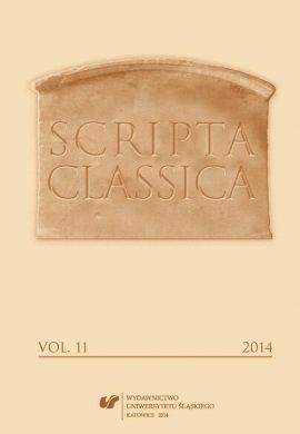 Scripta Classica. Vol. 11 - 06 Genology Games with Tradition. Old Polish Menippean Satire in the Context of Its Ancient Genre Models