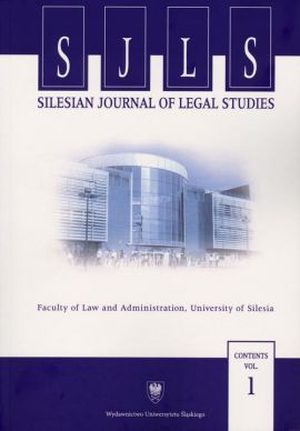 """""""Silesian Journal of Legal Studies"""". Contents Vol. 1"""