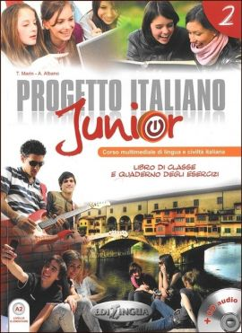 Progetto Italiano Junior 2 Podręcznik + CD - Outlet - A. Albano, Telis Marin
