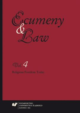"""Ecumeny and Law"" 2016. Vol. 4 - rec 3_Marek Rembierz"