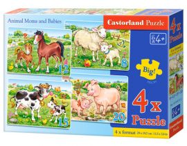 4x1 Puzzle Animal Moms and Babies