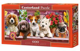 Puzzle 600 Puppies on a Shelf