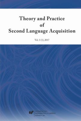 """Theory and Practice of Second Language Acquisition"" 2017. Vol. 3 (1)"