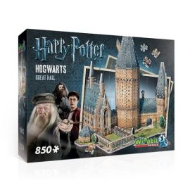 Wrebbit 3D puzzle Harry Potter Hogwarts Great Hall - 850 elementów - Outlet