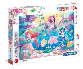 Puzzle Supercolor 104 z brokatem Under the Sea