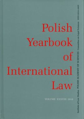 Polish Yearbook of International Law Volume XXXVIII 2018