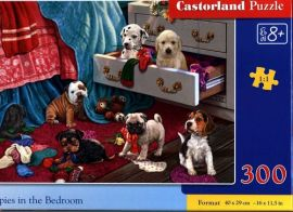 Puzzle 300 Puppies in the Bedroom