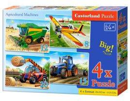 4x1 Puzzle 8-12-15-20 Agricultural Machines