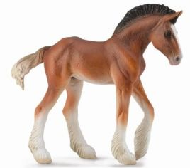 Figurka źrebię Clydesdale Bay M, Collecta